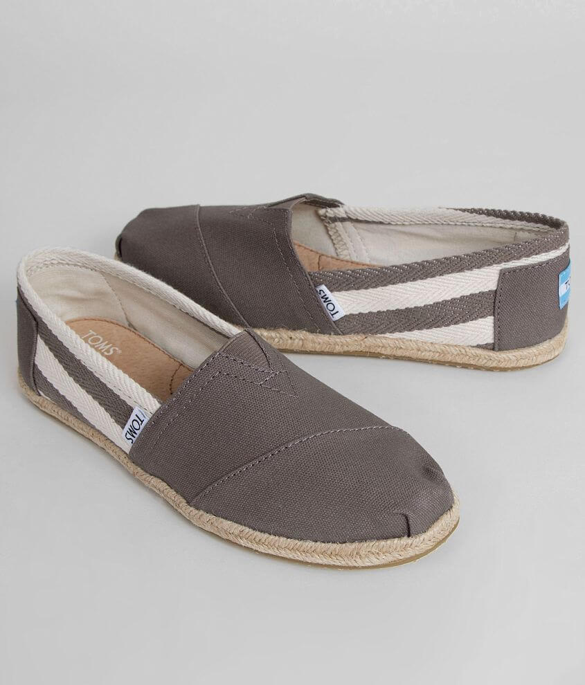 TOMS Striped Shoe front view