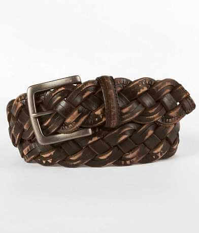 Buckle Black Braided Belt