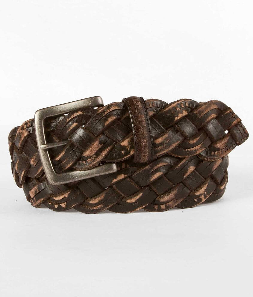 Buckle Black Braided Belt front view