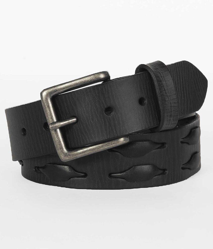 Buckle Black Weave Belt front view