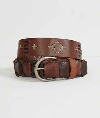 BKE Patched Leather Belt