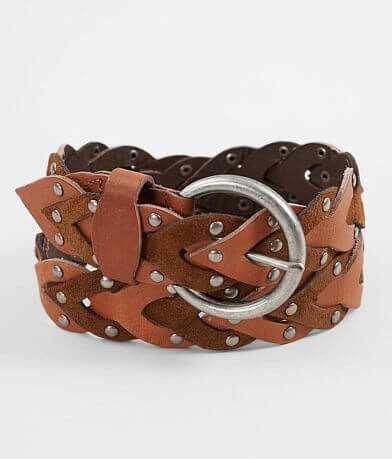 Indie Spirit Designs Weaved Two-Tone Leather Belt