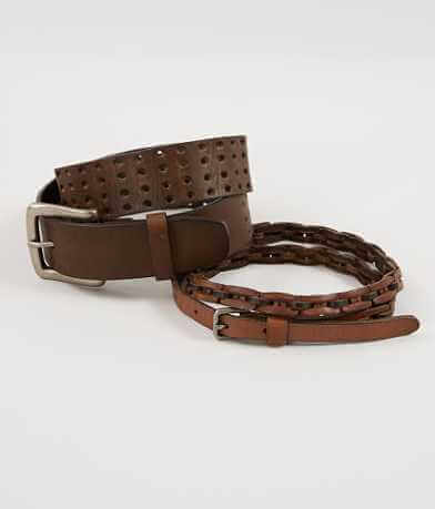 BKE Two Pack Leather Belts
