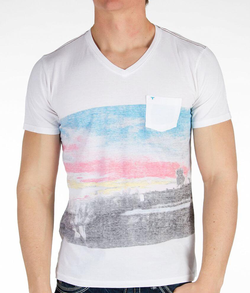 Topo Ranch Palm V-Neck T-Shirt front view