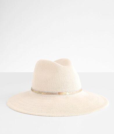 Wyeth Metallic Banded Panama Hat