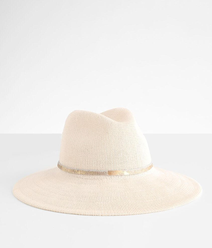 Wyeth Metallic Banded Panama Hat front view