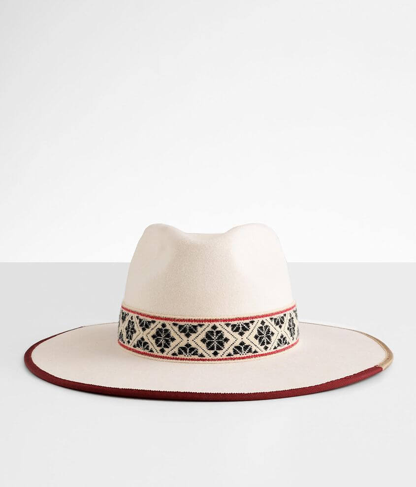 Wyeth Banded Two-Tone Brim Panama Hat front view