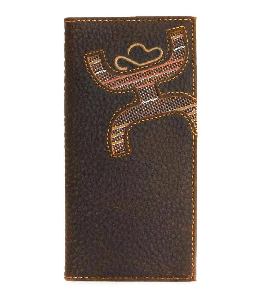 Hooey Signature Leather Rodeo Wallet front view