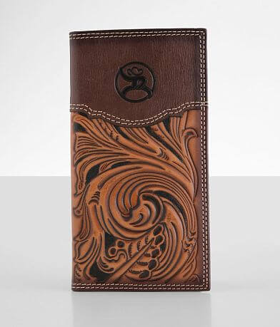 Hooey Roughy Rodeo Tooled Leather Wallet