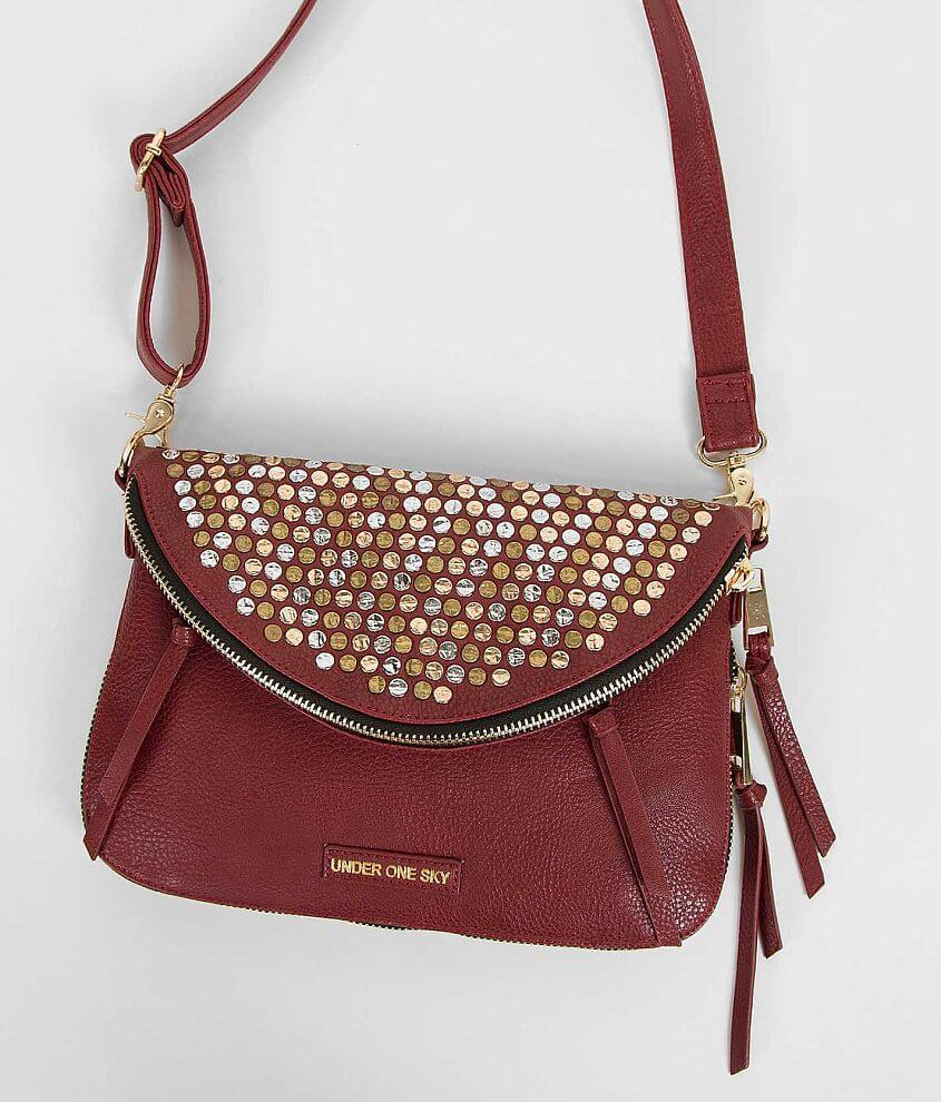 Under One Sky Reversible Crossbody Purse front view