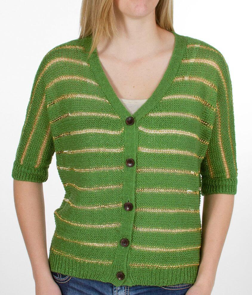 Daytrip Lurex Stripe Cardigan Sweater front view