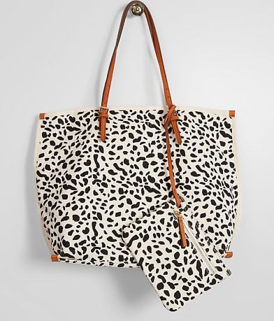 Street Level Leopard Canvas Tote