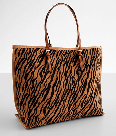 Street Level Animal Print Canvas Tote