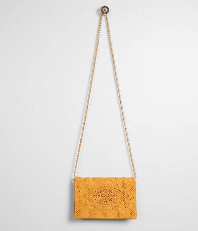 Street Level Perforated Crossbody Purse