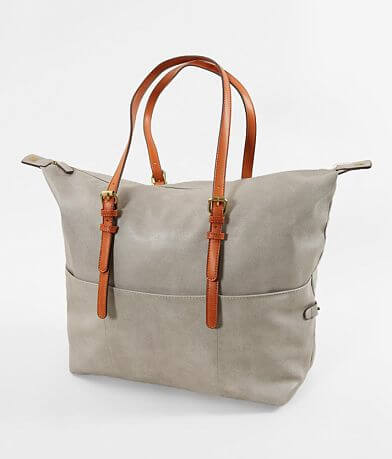 Street Level Distressed Faux Leather Tote