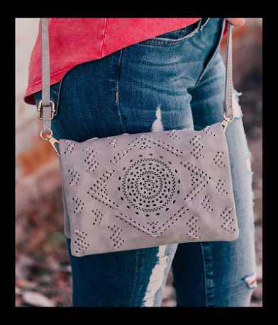 Laser Cut Crossbody Purse