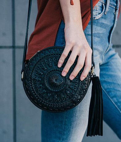 Embroidered Canteen Crossbody Purse