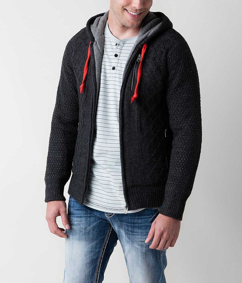 Triple 5 Soul Open Weave Cardigan Sweater front view
