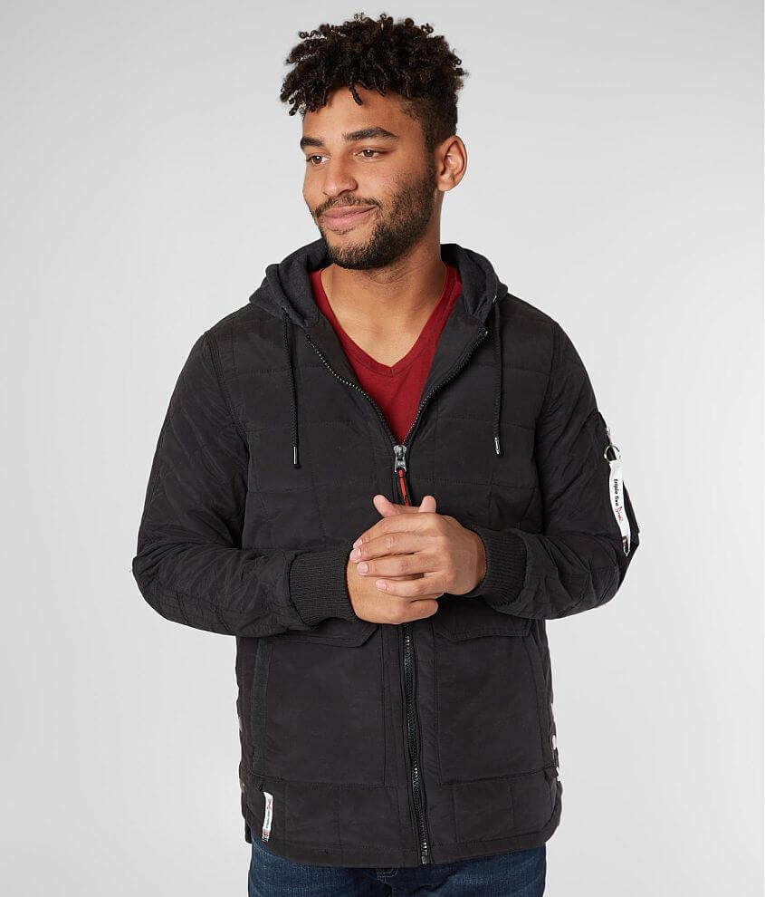 Triple 5 Soul Quilted Cotton Hooded Jacket front view