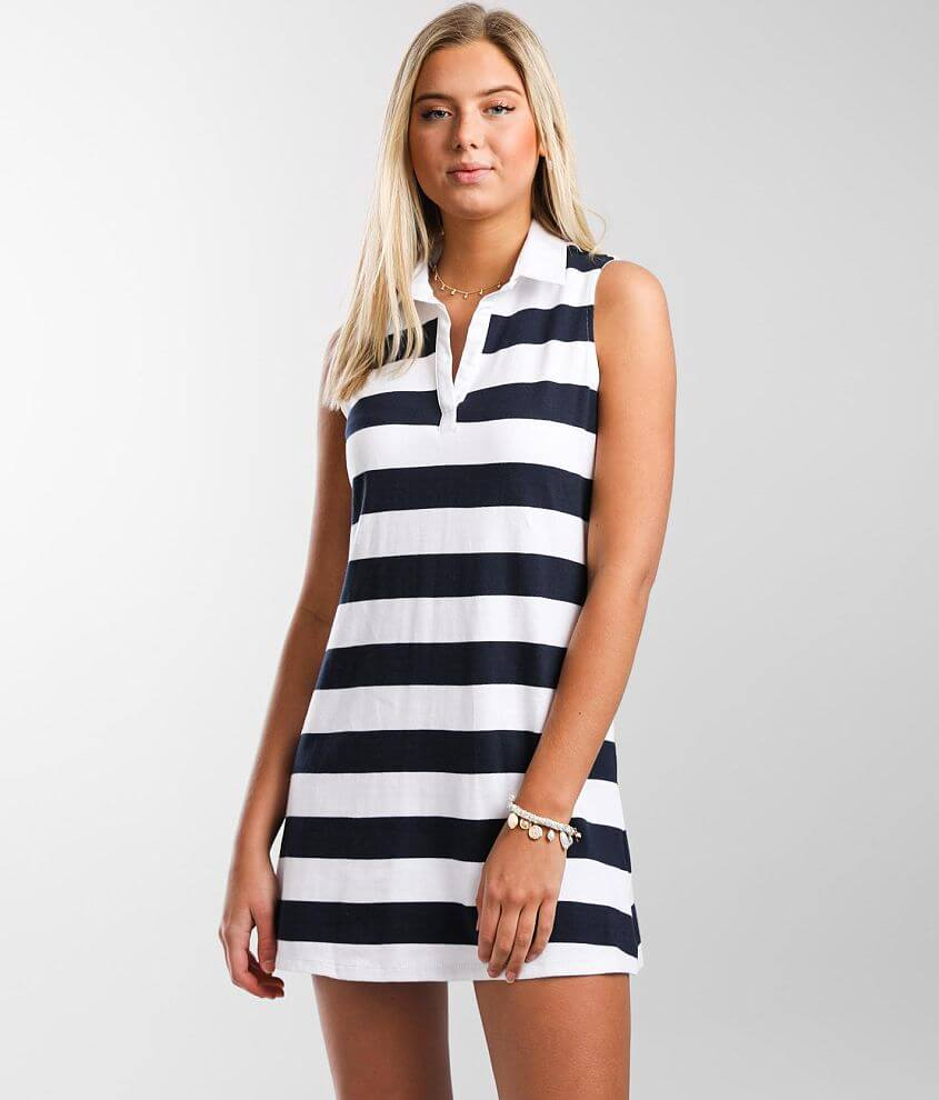 Trixxi Collared Knit Dress front view