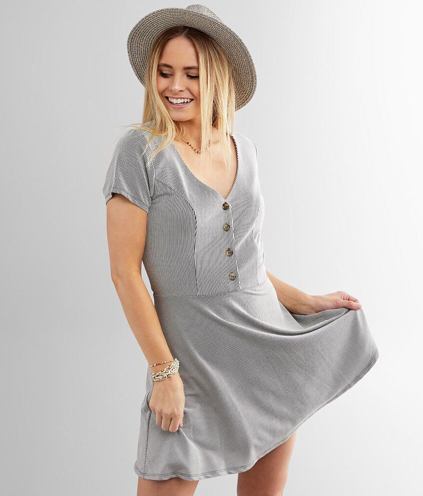 Daytrip Ribbed Knit Dress front view