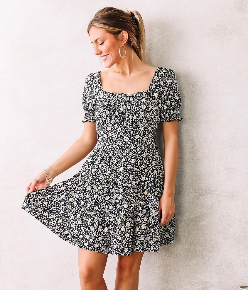 Trixxi Floral Tiered Dress front view