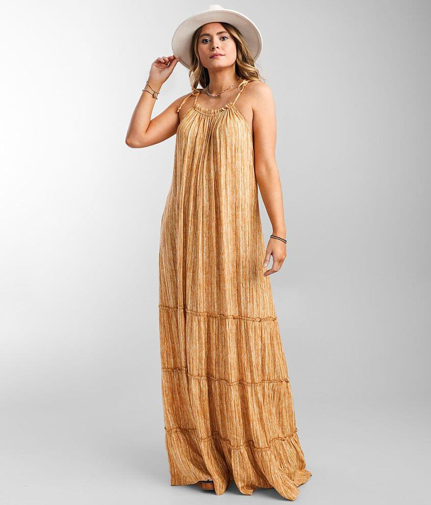 Daytrip Woven Tiered Maxi Dress front view