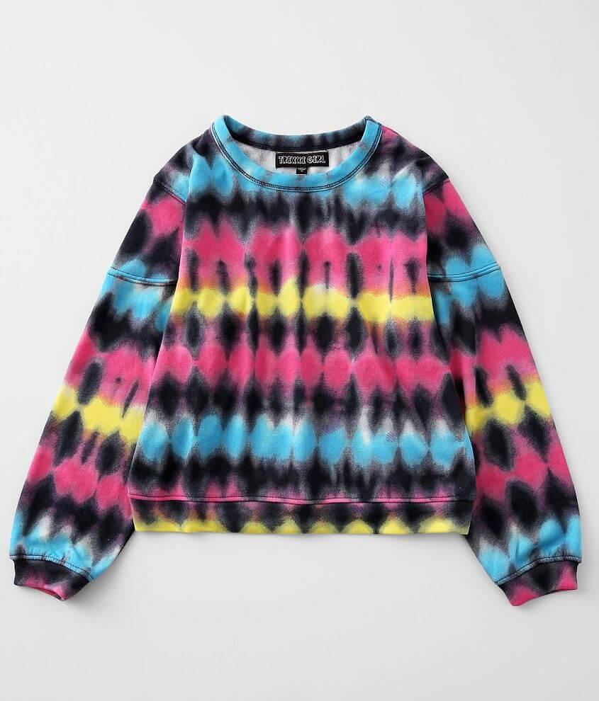 Girls - Trixxi Tie Dye Pullover front view
