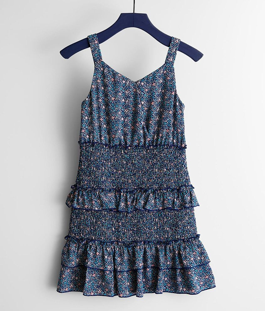 Girls - Trixxi Smocked Floral Dress front view