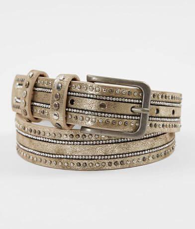 BKE Faux Leather Shimmer Belt