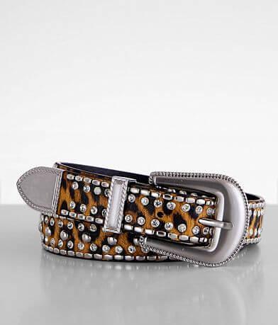 BKE Leopard Print Glitz Belt