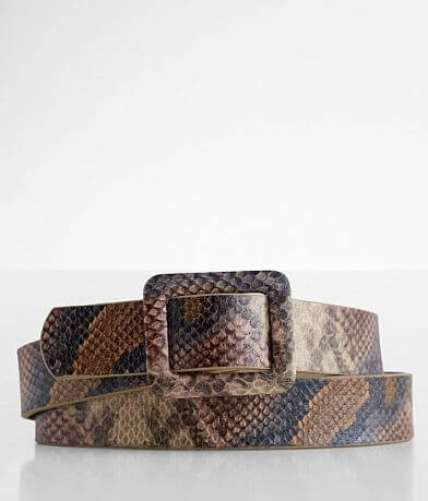 BKE Pull Through Snake Print Belt