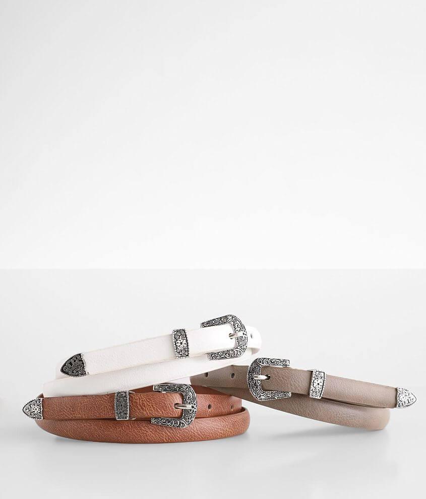 BKE 3 Pack Skinny Belt Set front view