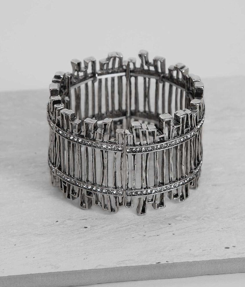 BKE Rhinestone Bracelet front view