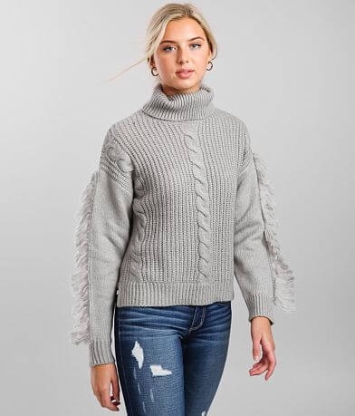 21 Main Cable Knit Turtleneck Sweater