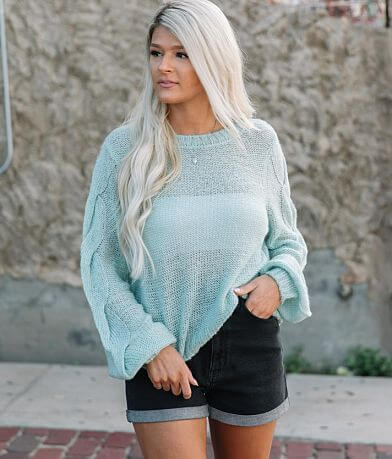 Willow & Root Pointelle Pullover Sweater