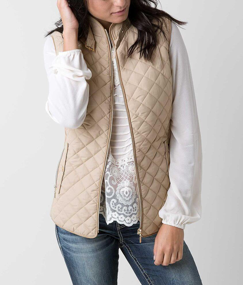 Ashley Quilted Vest front view