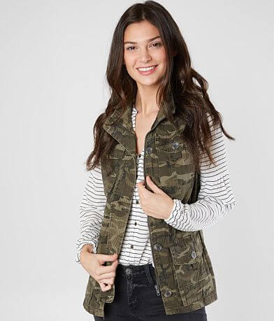 Ashley Camo Canvas Vest
