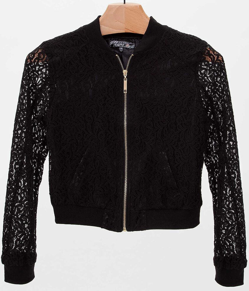 Ashley Lace Overlay Jacket front view