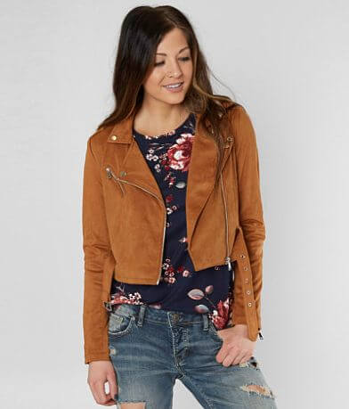 Ashley Faux Suede Cropped Jacket