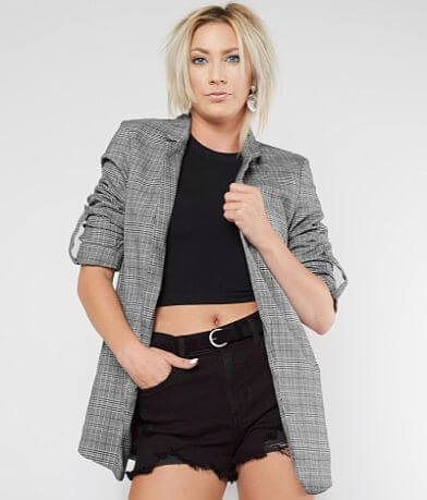 Stoosh Plaid Blazer Jacket