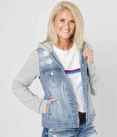 Daytrip Pieced Denim Hooded Jacket