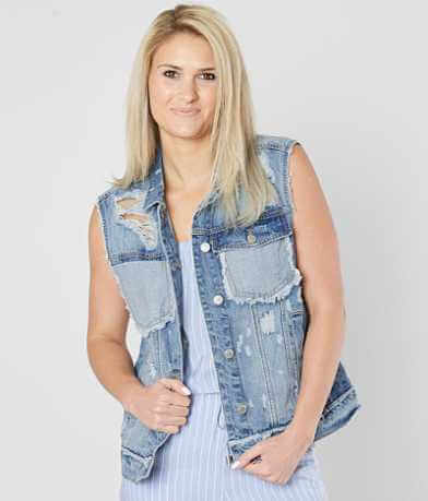 Ashley Distressed Denim Vest