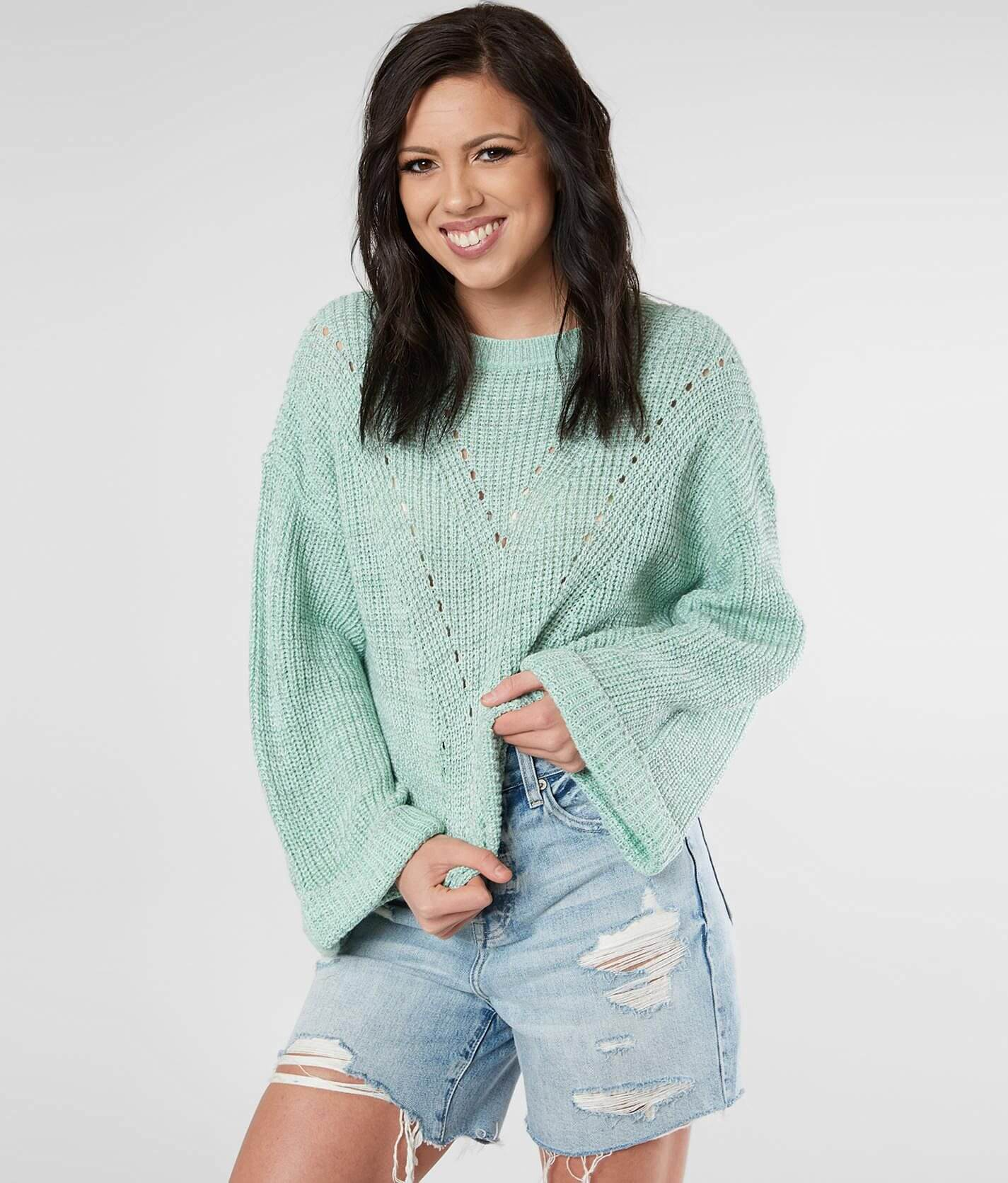Open Weave Cropped Sweater by Daytrip