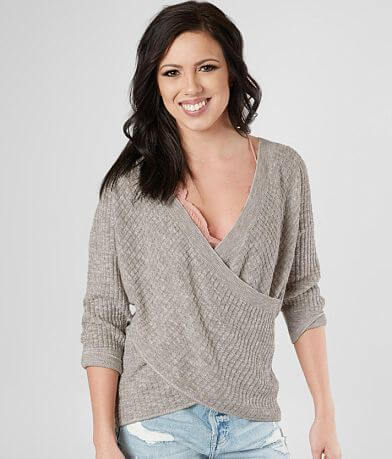 ff05d49f4a Daytrip Open Weave Marled Sweater