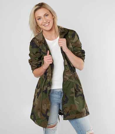 Ashley Camo Hooded Jacket
