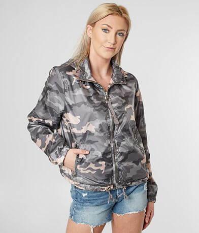 Ashley Camo Windbreaker Jacket