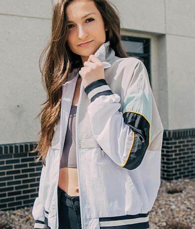 1 Sunset Lane Color Block Windbreaker Jacket