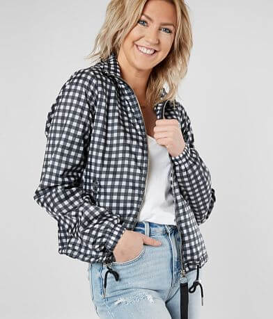 Daytrip Gingham Windbreaker Jacket