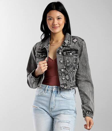 Ashley Vintage Charm Acid Washed Denim Jacket